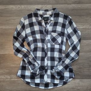 Rails blue and white Buffalo check button up shirt